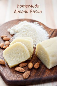 Homemade almond paste is so easy, quick and economical to make. It tastes fresh and is full of natural almond flavour.
