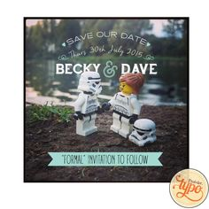 Save the Date - Printable and customisable - Star Wars Save the Date - Quirky Save the Date - Typography Save the Date by typo56 on Etsy