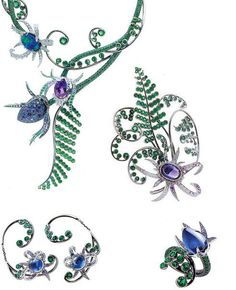 """Boucheron """"Fleurs Fatales"""" collection, """"Semiramis"""" necklace, earrings, ring and brooch"""