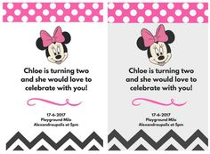 Minnie mouse invitation Birthday party by ItsallDigitaltome