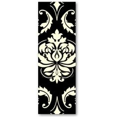 Diamond Damask in White on Black Business Cards