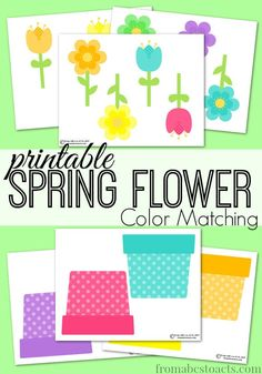 Are you ready for spring? Of course you are! Leave those dreary, cold winter months behind you with this printable spring flower color matching activity!