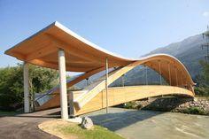 curved glulam timber beam HASSLACHER NORICA TIMBER