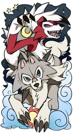 Lycanroc Or as I like to call them  Wolf Link and Keaton