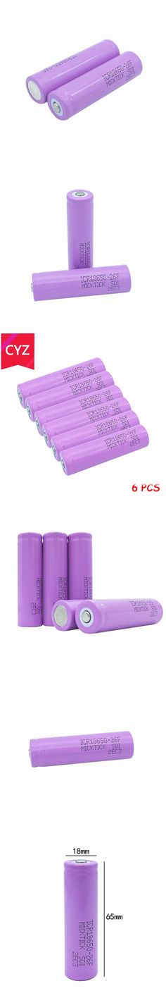 6PCS 3.7V 2600mAh 18650 BCR  MICKTICK Battery batteries batteria lithium Li Ion Rechargeable Capacity Battery T6 Flashlight