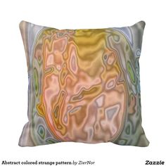 Abstract colored strange pattern pillow