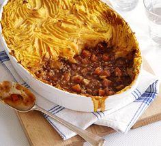 A healthier take on Shepherd's Pie. With sweet potatoes...yum!