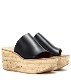 Chloé Leather And Cork Wedges For Spring-Summer 2017