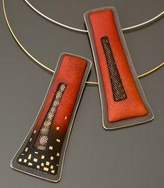 Angela Gerhard....enamel jewelry