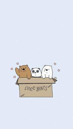 We bare bears pastel wallpaper on We Heart It Cute Panda Wallpaper, Bear Wallpaper, Kawaii Wallpaper, Pastel Wallpaper, Cute Wallpaper Backgrounds, Wallpaper Iphone Cute, Aesthetic Iphone Wallpaper, Galaxy Wallpaper, We Bare Bears Wallpapers