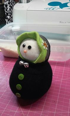 Boy snowman....made with sock