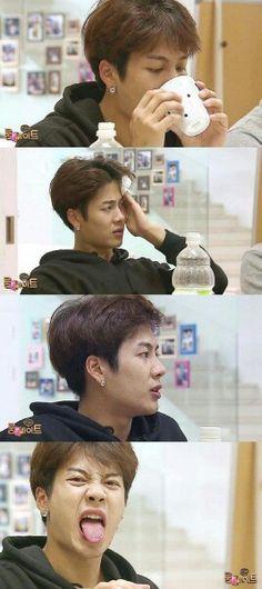 Jackson wang who never eats spicy food  --roommate season 2 ep 3