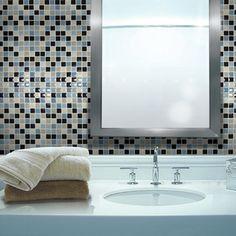 "Smart Tiles Mosaik 3"" x 3"" Mosaic Tile in Multi & Reviews   Wayfair"