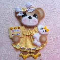 ELITE4U-Laura-SUNSHINE-BOUTIQUE-GIRL-Tear-BEAR-Premade-Scrapbook-3paperwishes