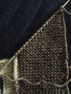How to Knit a Mitered Corner. Really useful for cardigan bands and for blankets.