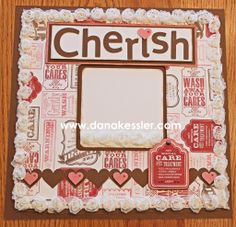 Scrapbook layout Valentines Baby Girl Cherish Special Care #ctmh #scrapbooking #scraptabulousdesigns