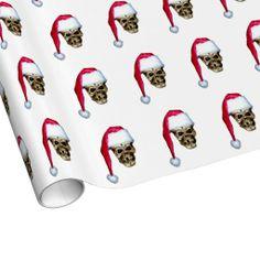 Skull Santa Gift Wrapping Paper
