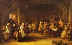 Sir David Wilkie - The Penny Wedding; Sir David Wilkie The Penny Wedding Signed and dated 1818 Oil on panel The Queen's Gallery, Art Gallery, David Wilkie, Scottish Wedding Traditions, The Duchess Of Devonshire, Royal Collection Trust, England, Free Art Prints, Old Paintings
