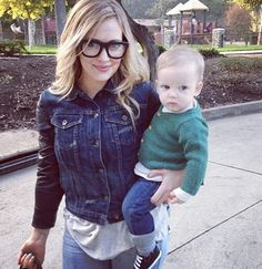 Hilary Duff with son, Luca.