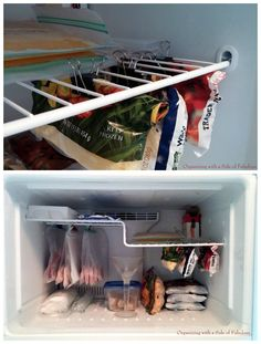binder clips freezer organization