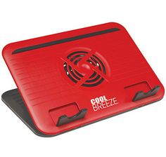 Cool Breeze Cooling Stand - RED from the Shopping Channel The Shopping Channel, Laptop Accessories, Breeze, Cool Stuff, Red
