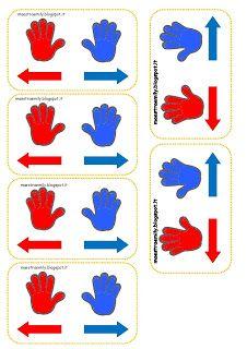 MaestraEmily: PER IMPARARE DESTRA E SINISTRA Emotions Activities, Learning Activities, Activities For Kids, Crafts For Kids, Math Anchor Charts, In Kindergarten, Pixel Art, Preschool, Bee