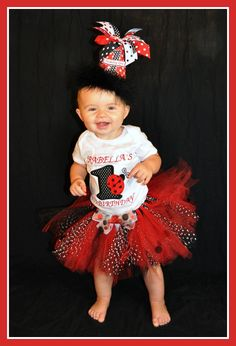 Ladybug Birthday Shirt Personalized Ladybug Birthday Number TShirt. $18.00, via Etsy.