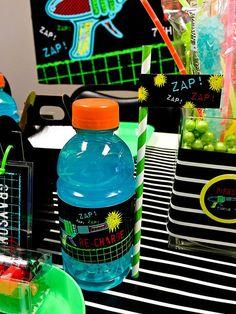 Laser Tag Black and Neon Birthday Printables Decorations Boy