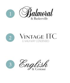 {Typeface Tuesday} Wedding Font Combinations