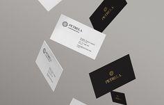 Tarjetas de presentación para Petrela, diseño MXTAD