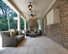 Outdoor Brick Fireplace Design, Pictures, Remodel, Decor and Ideas - page 2
