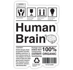 """Human Brain"" Stickers by RaphaUD | Redbubble"