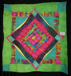 Ricky Tims quilt with couched pearl cotton