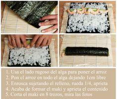 Sushi paso a paso (con arroz en varoma)