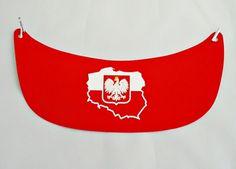 Daszek kartonowy czerwony z nadrukiem Polska