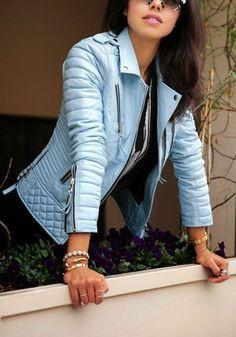 new style Women's Genuine Lambskin Luxury Slim fit sexy Biker Jacket A01 #WesternOutfit #Motorcycle #EveryDay