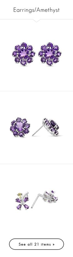 Earrings/Amethyst by blossom-jewels on Polyvore featuring Blossomjewels, women's fashion, jewelry, earrings, amethyst earrings, purple earrings, sterling silver amethyst earrings, sterling silver jewelry, earrings jewelry and purple amethyst earrings