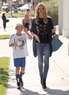 Heidi Klum Photos: Heidi Klum Takes Her Kids To Pinkberry