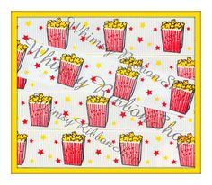 NEW 3 yards 7/8 Circus Movie POPCORN red by WhimsyRibbonShop, $5.95