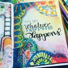 Artjournal page by Pia DoodleDiem 2016