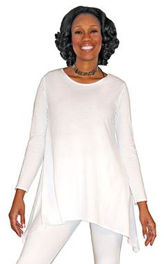 Asymmetrical Tunic- Made just for us in the U.S.A. of a nice, soft, lighter weight (~5 oz) jersey, and sewn with cotton thread for perfect dyeing.