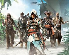 Poster affiche Assassin's Creed Black Flag Île