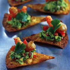 Nachos met garnalen en guacamole - recept - okoko recepten