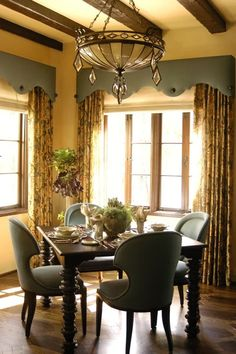 Draperies With A Padded Cornice