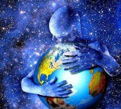 I believe in a God, where others believe in Mother Nature. This to me is God holding the earth, telling us to take better care of the place he's put us on. Visionary Art, Art Plastique, Gaia, Mother Earth, Oeuvre D'art, Fantasy Art, Planets, Artsy, Creatures
