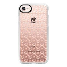 PINK PATTERN TILES (Transparent background) - iPhone 7 Case And Cover (54 NZD) ❤ liked on Polyvore featuring accessories, tech accessories, iphone case, pattern iphone case, pink iphone case, print iphone case, apple iphone case and iphone cover case