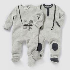 Pijama de terciopelo (lote de 2) 0 meses-3 años R baby