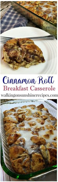 How to Make an Easy Cinnamon Roll Breakfast Casserole perfect for the weekend or even Christmas morning.
