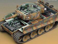 Military Plastic Model Kit 1/35 Tank GERMAN TIGER-I EARLY VERSION Academy 13239