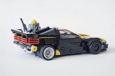 Thought Experiment, Lego Speed Champions, Batmobile, Cyberpunk, Nerdy, Black And Grey